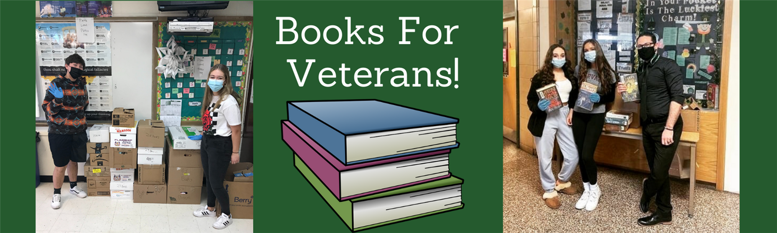 Students Host Successful Book Drive for Veterans photo