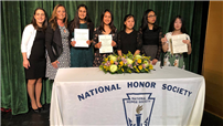 NHS and NJHS Induct 83 New Members photo