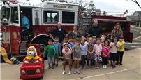 Kids Get a First-Hand Lesson in Fire Safety photo